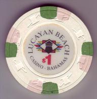BAHAMAS - Jeton De Casino Lucayan Beach - - Casino