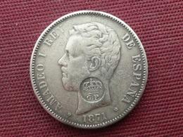 ESPAGNE Fausse Monnaie De 5 Pésétas 1871 Poids 19 Ou 20 Grs - Spanien