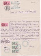 T.F Taxe Communale N° 3 X 3 Et T.F.S.U N° 133 X 2 Vernoil Le Fourrier 1946 - Fiscaux