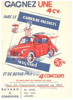 V R/ Buvard Voiture 4 Ch Renault (N= 1) - Blotters