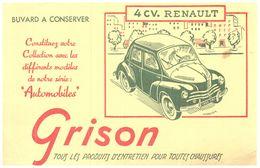 V R/ Buvard Voiture 4 Ch Renault (N= 2) - Automotive