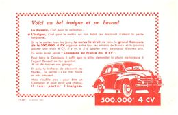 V R/ Buvard Voiture 4 Ch Renault (N= 3) - Blotters