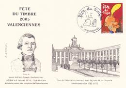 Fête Du Timbre 2005 Valenciennes - Louis Adrien Desfontaines - Hôpital Du Hainaut - Timbre Titeuf N°3751 - FDC