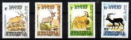 ETHIOPIE. N°1255-8 De 1989. Antilopes/Koudous. - Timbres