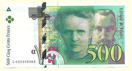 France - Billet 500 Francs Pierre Et Marie Curie 1994  N° L 023495965 - 1992-2000 Dernière Gamme