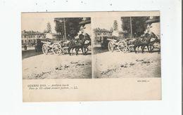 GUERRE 1914 ARTILLERIE LOURDE PIECE DE 155 ALLANT PRENDRE POSITION (CARTE STEREOSCOPIQUE) - Weltkrieg 1914-18