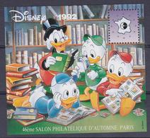 Feuillet Souvenir C.N.E.P. N° 16 - Picsou, Riri, Fifi & Loulou - 46ème Salon Philatélique D'automne, Paris - 1992 - CNEP
