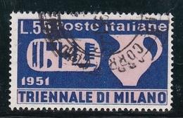 1951 Italia Italy Repubblica TRIENNALE  TRIENNIAL 55 Lire USATO USED - 6. 1946-.. Republic