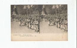 GUERRE 1914 TROUPES ALGERIENNES SE RENDANT A LA LIGNE DE FEU (CARTE STEREOSCOPIQUE) - Weltkrieg 1914-18