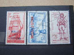 VEND BEAUX TIMBRES DE WALLIS ET FUTUNA N° 87 - 89 , (X) !!! - Wallis-Et-Futuna