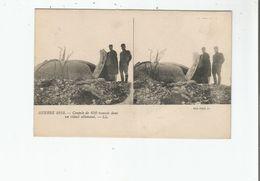 GUERRE 1914 COUPOLE DE 450 TROUVEE DANS UN REDUIT ALLEMAND (CARTE STEREOSCOPIQUE) - Weltkrieg 1914-18