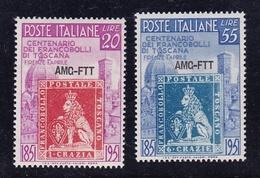 1951 Italia Italy Trieste A TOSCANA  TUSCANY Serie Di 2v. MNH** - Trieste