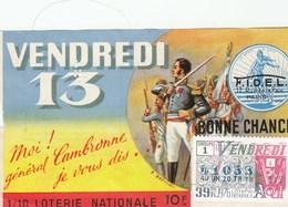 BILLET DE LOTERIE.. VENDREDI 13..1976 - Biglietti Della Lotteria