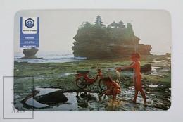 1983 Vespa Vespino Scooter Advertising Pocket Calendar H Fournier - Asian Models - Calendarios