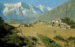 B 3654 - Népal     Thyangboche  Temple And Kwangde - Nepal