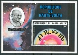 1974 Alto Volta Gandhi Gandi - Martin Luther King - Louis Armstrong Zodiaco Zodiac Zodiaque MNH** BL13 - Alto Volta (1958-1984)