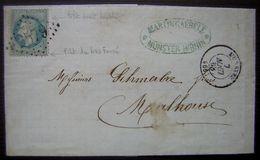 1868 Munster Haut Rhin Martin Gaebele Timbre Avec Variétés, Voir Photos - Postmark Collection (Covers)