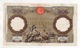 Italia - Regno - Banconota Da Lire 100 - CAPRANESI - Aquila Romana - Testina - Fascio - Decreto 27.02.1940 - (FDC8533) - [ 1] …-1946 : Kingdom