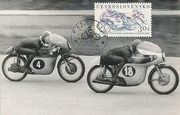 D32978 CARTE MAXIMUM CARD RR TRIPLE 1961 CZECHOSLOVAKIA - MOTOR RACING CP ORIGINAL - Motorbikes