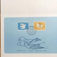 """Schweiz Suisse 1995: BT-Folder """"Hans Erni"""" Mit Zu 880-881 Mi 1552-53 Yv 1480-81 """"Friede & Freiheit - Paix & Liberté"""" - Columbiformes"""