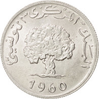 Monnaie, Tunisie, 5 Millim, 1960, SPL, Aluminium, KM:282 - Tunisie