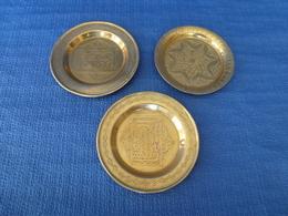 Lot De 3 Coupelles En Cuivre Finement Décorées - Syrie - XIX è Siècle - Coppers