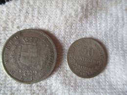 Italia: 1 Lira + 50 Centesimi 1863 - 1861-1946 : Kingdom