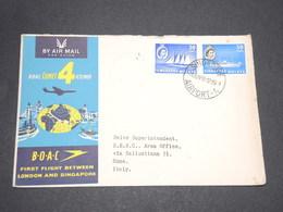 SINGAPOUR - Enveloppe Illustrée Par Avion Pour L 'Italie En 1959 - L 13938 - Singapour (1959-...)