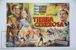 1946 Cinema/ Movie Advertising Leaflet - Canyon Passage - Publicité Cinématographique