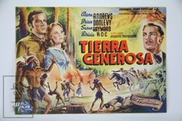 1946 Cinema/ Movie Advertising Leaflet - Canyon Passage - Werbetrailer