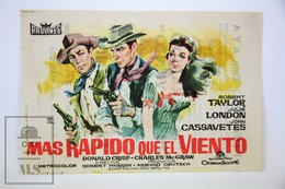 1958 Cinema/ Movie Advertising Leaflet - Saddle The Wind - Robert Taylor,  Julie London,  John Cassavetes,  Donald Crisp - Werbetrailer