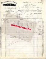 42- SAINT ETIENNE-RARE FACTURE A. RAIMOND- SPECIALITES ROSA-ACCESSOIRES POUR CYCLES-VELO- 73 RUE LIOGIER-1929 - Transport