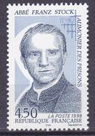 T-.P. Neuf** - 50ème Anniversaire De La Mort De L'abbé Franz Stock Aumônier Des Prisons - N° 3138 (Yvert) - France 1998 - France
