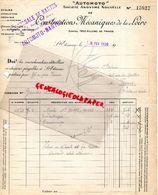 42- SAINT ETIENNE- RARE FACTURE CONSTRUCTIONS MECANIQUES DE LA LOIRE-AUTOMOTO- NANTES- 1920 AUTO MOTO - Transport