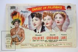 1943 Cinema/ Movie Advertising Leaflet - So Proudly We Hail! - Claudette Colbert,  Paulette Goddard,  Veronica Lake - Bioscoopreclame