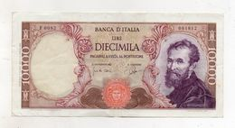 "Italia - Banconota Da Lire 10.000 ""Buonarroti"" Decreto 03.07.1962 -  (FDC8535) - [ 2] 1946-… : Républic"