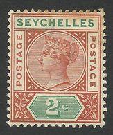 Seychelles, 2 C, 1900, Scott # 2, MH - Seychelles (...-1976)