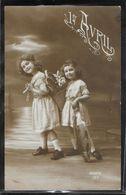 CPA 1er AVRIL - Deux Petites Filles - April Fool's Day