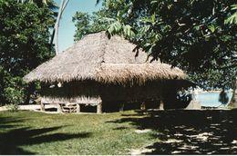 712Ma  Tahiti Grande Photo Originale (27cm X 17cm) Habitation Fare En Bord De Plage - Tahiti