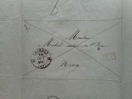 1841, CACHET A DATE SUR LETTRE DE MATHIEU DE DOMBASLE, 1841, CHARMES A NANCY,  LORRAINE, ROVILLE - 1801-1848: Précurseurs XIX