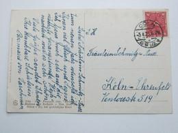 1923 , CÖLN - SÜLZ , Klarer Stempel Auf Karte - Briefe U. Dokumente