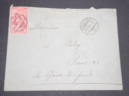 SUISSE - Enveloppe De Uster Pour Chaux De Fonds En 1900 - L 13943 - 1882-1906 Armarios, Helvetia De Pie & UPU