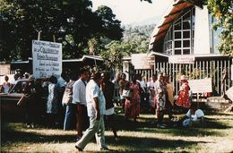 712Ma  Tahiti Grande Photo Originale (27cm X 17cm) Manifestation Franco Polynesienne - Tahiti