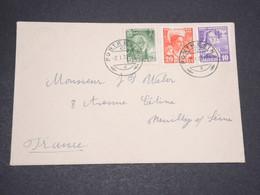 SUISSE - Enveloppe De Pontresina Pour La France En 1937 , Affranchissement Plaisant  - L 13944 - Cartas