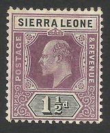 Sierra Leone, 1 1/2 P. 1905, Sc # 79, Mi # 57, MH. - Sierra Leone (...-1960)