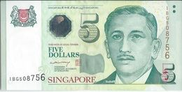 Singapour   5 Dollars   Nd(2005)  P47Aa    Neuf - Singapur