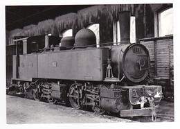 CPM VOIR DOS TRAIN Corse Remise D'Ajaccio CFC Locomotive à Vapeur 020 T 352 Boîte à Fumée 313 Le 22/06/1957 - Ajaccio
