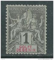 Bénin N° 20 X  Type Groupe : 1 C. Noir Sur Azuré  Trace De  Charnière Sinon TB - Unused Stamps