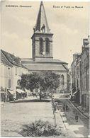 Excideuil - Eglise Et Place Du Marché - France