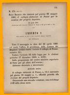 PENNE PESCARA-PER LA NOMINA DEL PROPRIO DEPUTATO-DECRETO DEL 1881 - Pescara
